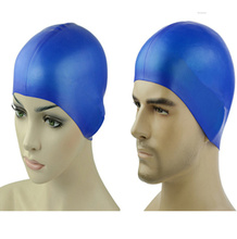 Silicon Waterproof Swimming Hat Ear Protection Swim Cap for sale