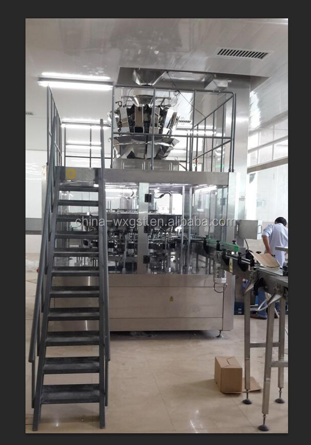 Professional bottle granulated sugar weighing filling capping machine with low price