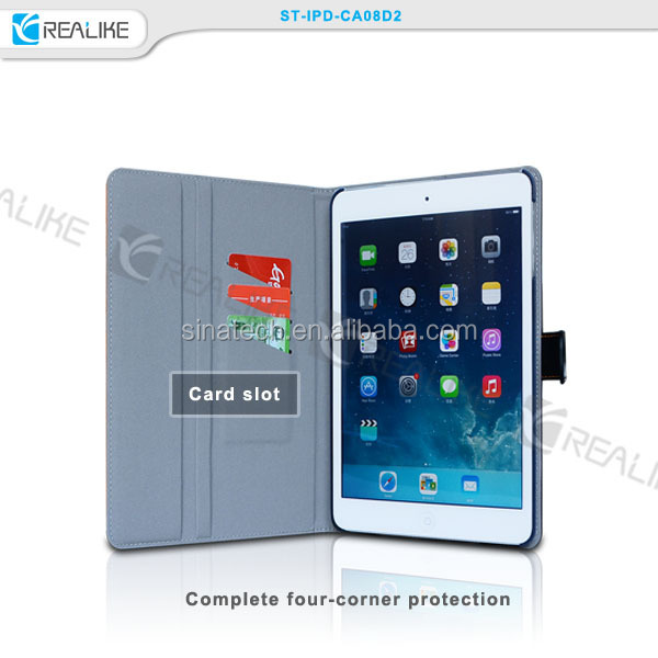 leather case with sleep wake funtion for ipad air,tablet case for ipad air 2