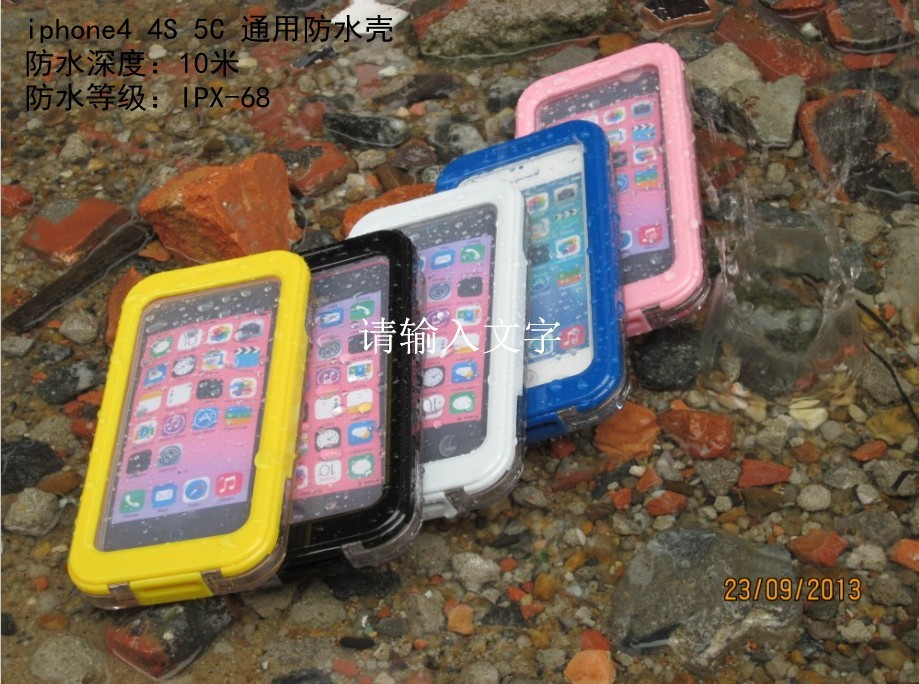 Slim Soft Silicone Waterproof Shockproof Durable Case Cover For iPhone 4 4s 5c