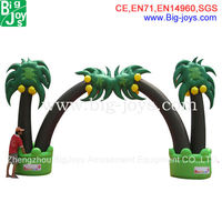 Outdoor factory supply entrance palm tree advertising inflatable arch for promotion