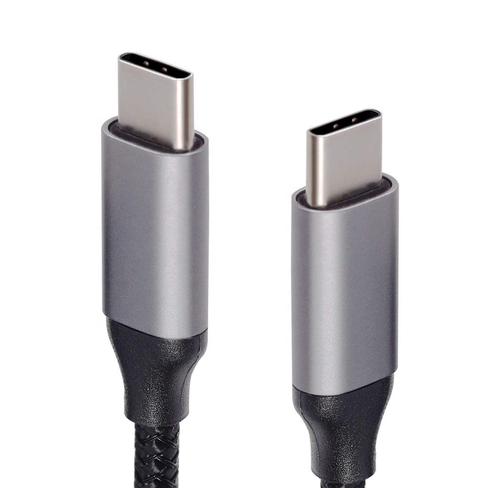 Top quality PD fast Nylon male to male usb type <strong>c</strong> cable 3.0 1M 2M 3M original type <strong>C</strong> to type <strong>C</strong> usb cable for Macbook for iPhone