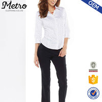 Long sleeve formal ladies workwear suit office wear shirts for women