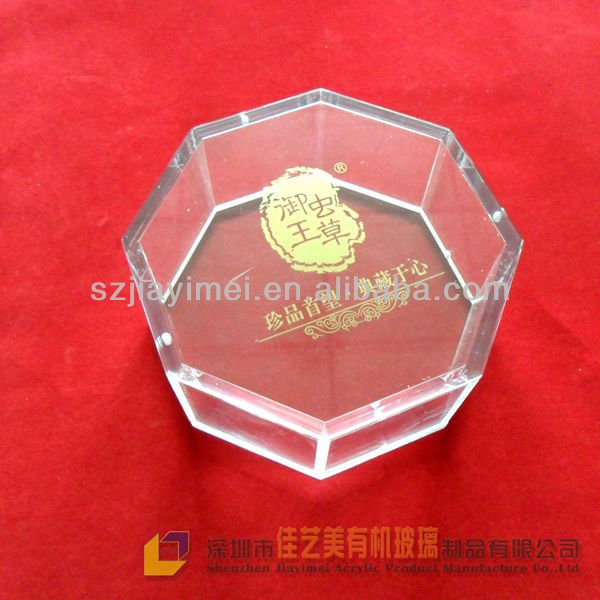 clear acrylic food and medicine container