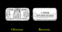 Sliver Bullion 1 Gram Panda 999 Sterling silver Bar