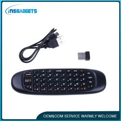 Mini double-sided wireless keyboard for sharp smart tv ,h0tcn 2.4g wireless bluetooth keyboard for sale