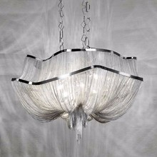 7.6-1 long chandelier Hanging chain crystal Suspension Light - Two Tier
