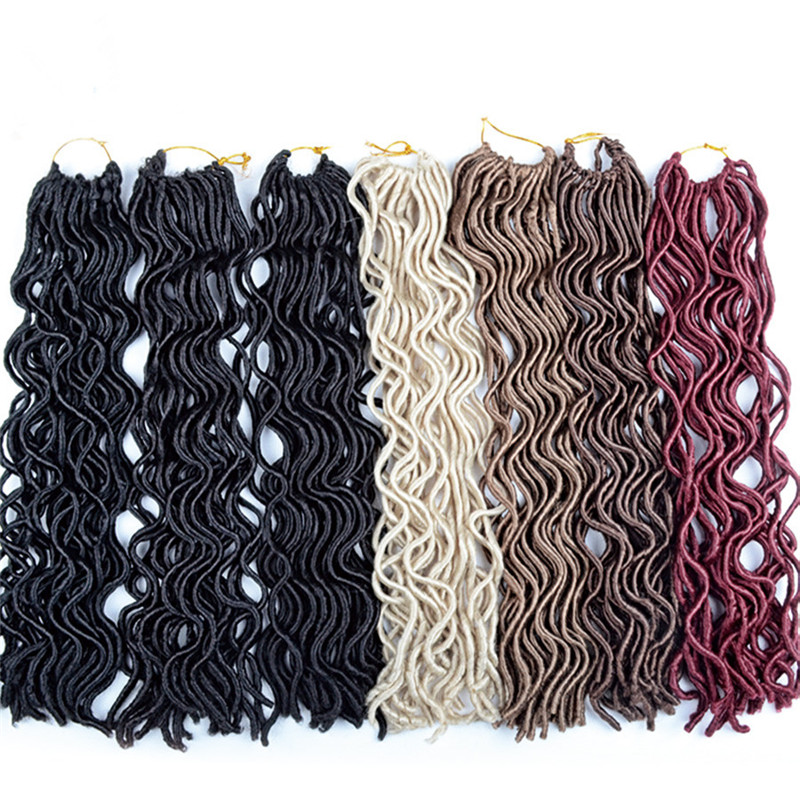 Soft Wavy Faux Locs Crochet Braids Curly Crochet Dreadlock Braiding Hair