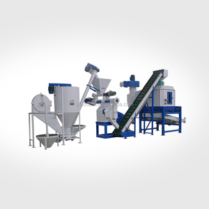 1-10TPH Animal Chicken Poultry Fish Livestock Feed Production Line for Cattle Feed Mill Plant Cost