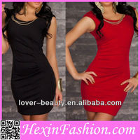 Cheap Hot Sale Women Black Latest Fashion Dress Design 2013