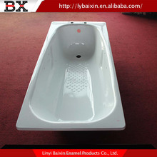 Enamel stainless steel bathtub,arc shape enamel bathtub, enamel bathtub