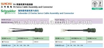 Schneider 23 Series servo cable Assembly and connector VW3M5132R_ _(power cable w/brake)