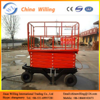 mobile scissor lift platform to raise storage / material hanging lift