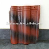 Double Color Ceramic Clay Interlocking Roof Tile