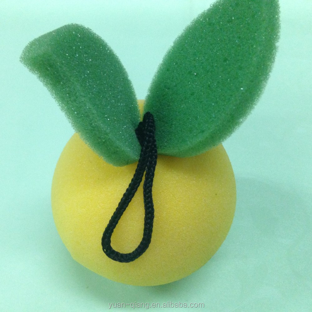 new novel cute fruit shape shower sponge