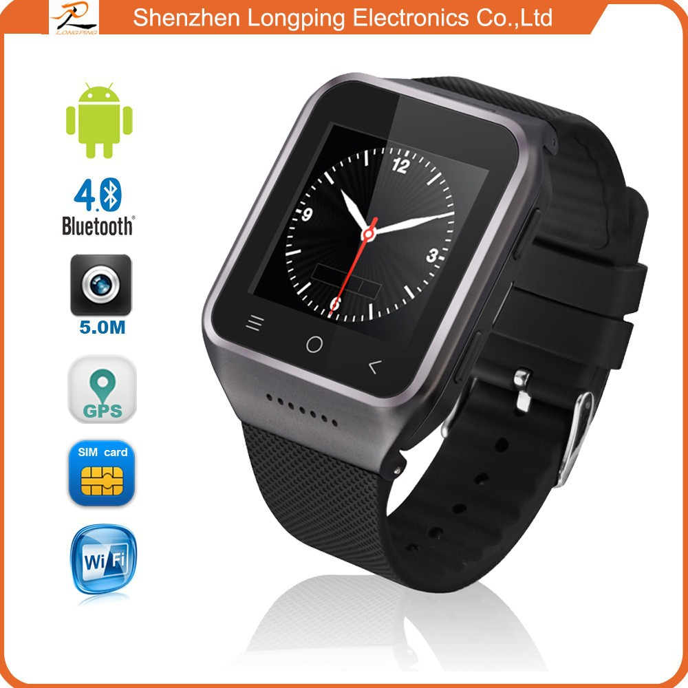 2015 latest android smart watch with 3G wifi bluetooth sync for iphone for samsung and window phone