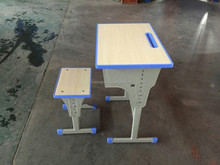 Different style strong structure single seat school desk and chair