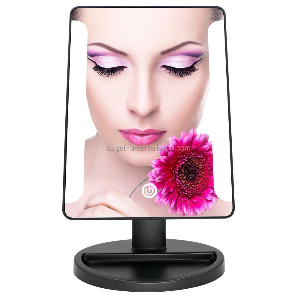 Adjustable Vanity Lighted make up mirror vanity cosmetics mirror with touch sensor switch