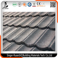 New Design Flat Roofing Shingle, Stone Coated Metal Roof Tile with High Quality and Good Price