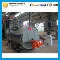 WNS series CE certificate industrail oil(gas) fired steam boiler for fabric factory 12ton natural gas boiler