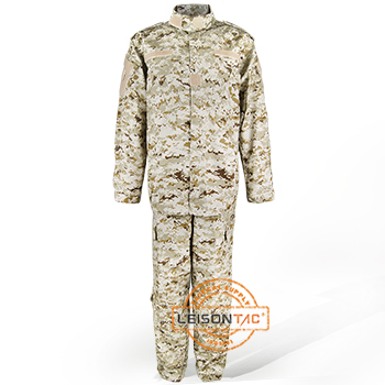Military Uniform ACU with Desert Camouflage Color in Stock