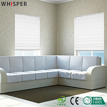 Horizontal Invisible Office Roller Roman Curtains One Way Window Screen