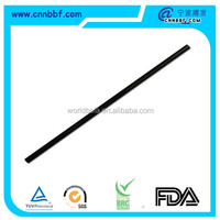 Disposable black plastic drinking straw with low price
