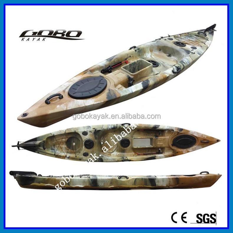 Polyethylene fishing kayak boat with pedal buy pedal for Fishing kayak with pedals