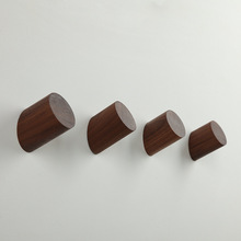 beech and walnut wood wall coat hook for hanging