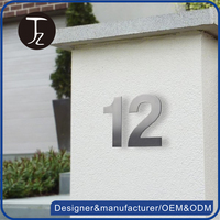 High quality stainless steel house numbers door number