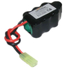 8.4V 1600mAh NiMH Rechargeable Battery Pack for RC airplane with mini tamiya plug and 2/3A cell size