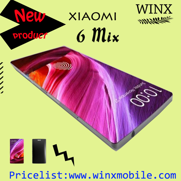 super slim mobile phone with price Xiaomi 6 MIX 6.4 inch Smartphone Snapdragon 835 RAM 6GB Black