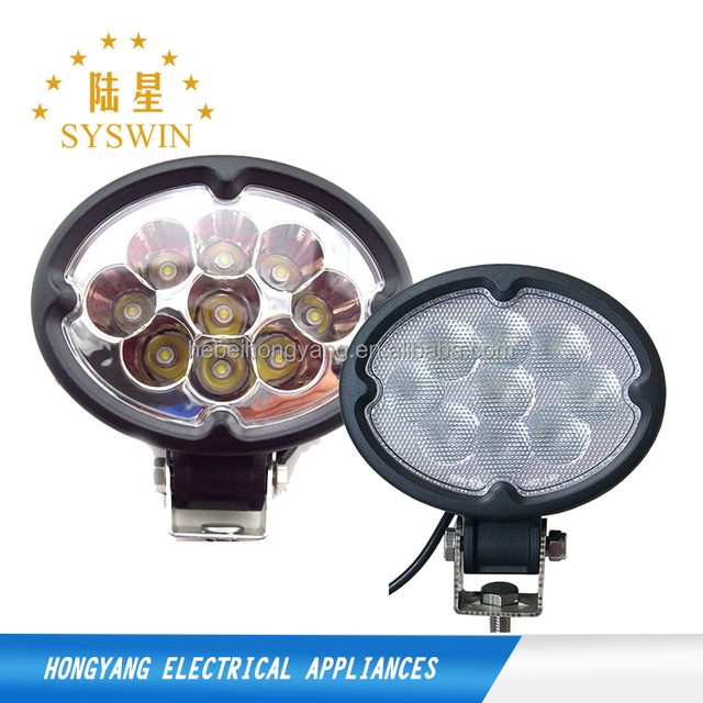 super bright 27w 36w 48w led work light round off road lights flood working light with magnetic base