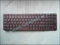 Brand new laptop US keyboard replacement for hp 8760w 8770w with frame 688738-001