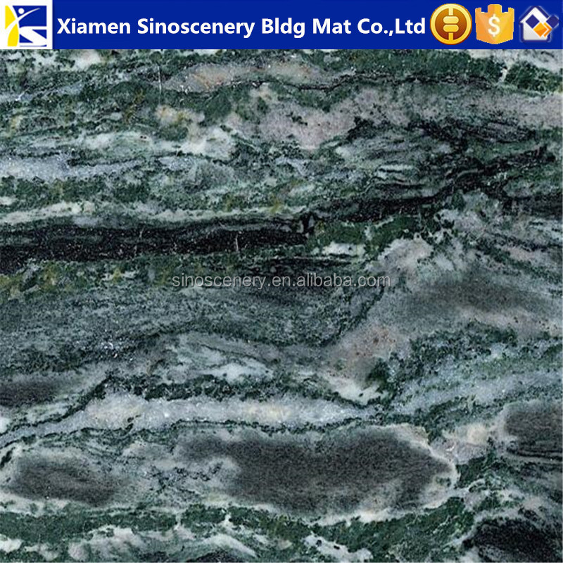 Chinese ocean wave green granite tiles 60x60 price