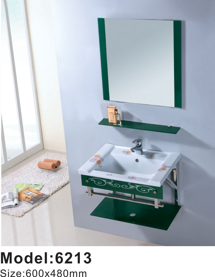 Factory sell cabinet set ceramic hand wash basin
