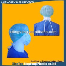 disposable PP nonwoven bouffant cap,bouffant cap with elasticated edge for total hair