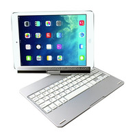 for ipad air 2 keyboard aluminum alloy bluetooth 360 degree rotating