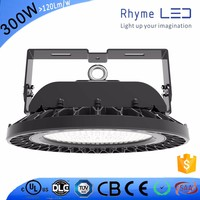 High efficacy emergency motion sensor 300W led high bay light factory with 7 years warratny