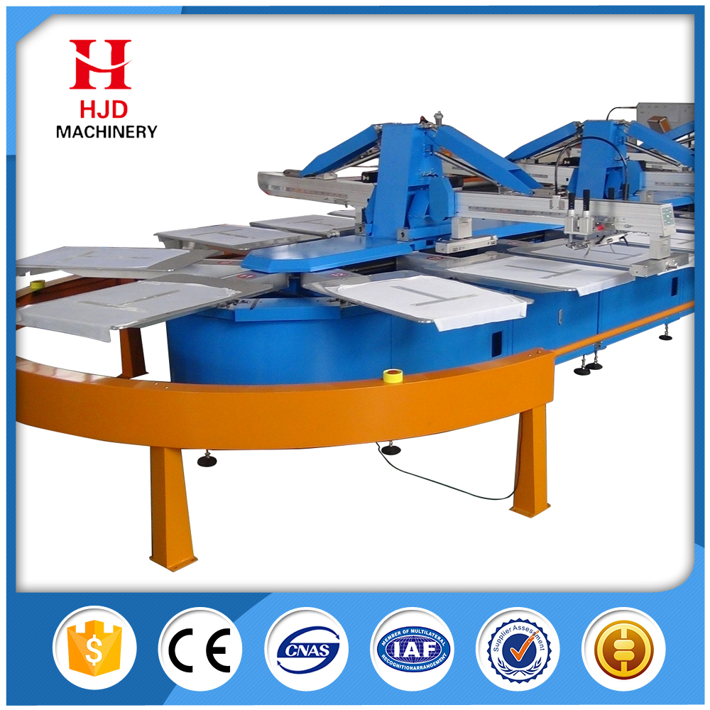 Full Servo Oval Silk Screen Printing Machine for sale 8 color 12 color 16 color