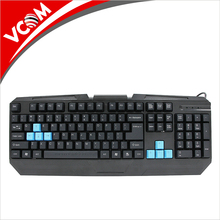VCOM Professional High Quality USB Wired 112 Keys Membrane Colorful Backlit PC LED Gaming Keyboard