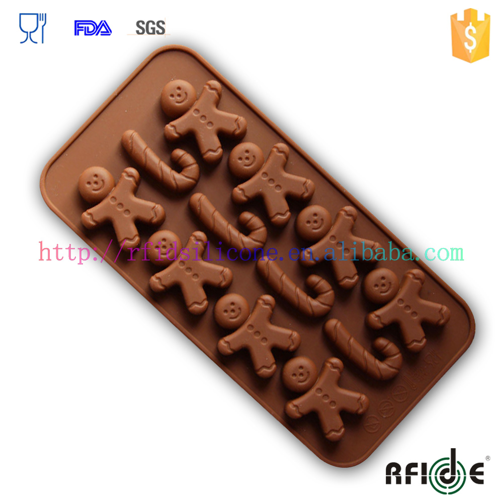 8-cavity Silicone little people shape chocolate mold tray Candy Soap Mould Chocolate Ice Cube