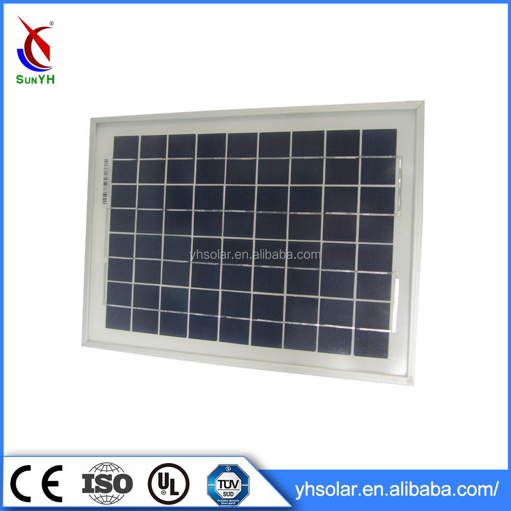 Trustworthy China Supplier sunpower solar panel 10 watt with rohs