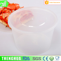 disposable take away plastic salad bowl food container for pinic
