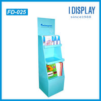 Blue point of sale cardboard book display box for retail