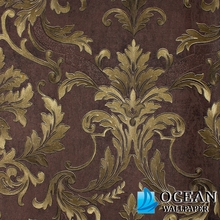 cheap price dark brown no glue self adhesive vinyl wallpaper