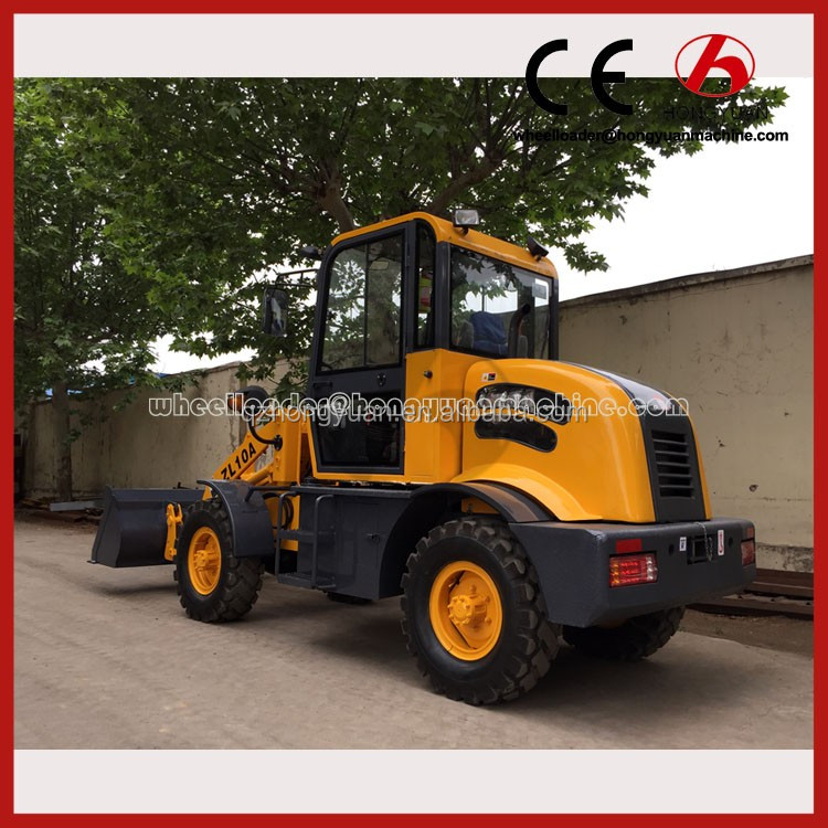 Mini construction equipment used front end loader tractor with 4.2m lifting height
