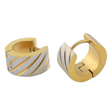 Ring type clip-on top mens earrings designs body jewelry gold ear tops