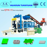 automatic concrete vibro press block machine QT8-15 with high quality ISO CE