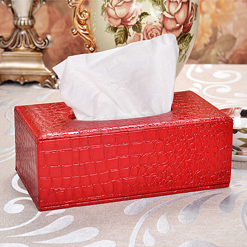leather tissue box covers facial draw paper napkin towel holder for home office